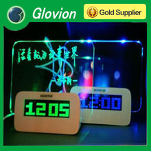 Novelty Gift led recordable message board alarm clock