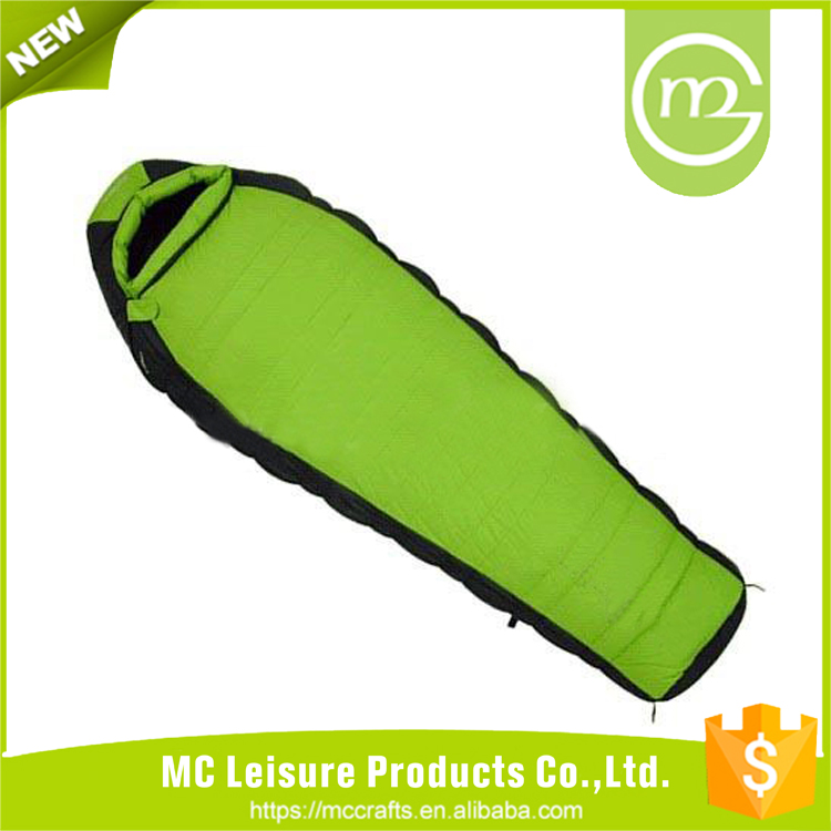 Funny waterproof adult cheap portable custom nylon outdoor camping sleeping bag