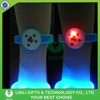 Event Logo Led Flashing Silicone Bracelet