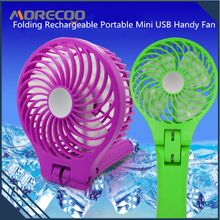 Custom Logo Folding Rechargeable electric fan , Portable Mini handheld USB Handy Fan