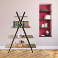 Modern design 4 tiers metal tree shaped bookshelf