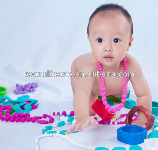 Beaded Silicone&Wholesale Jewelry Supplies&Jelly Baby Toy Silicone Teether