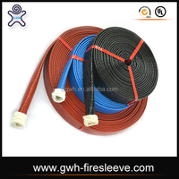 resistant fire sleeve for wire protection sleeve