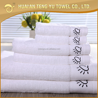 Christmas promotional 100 cotton material embroidery customized logo hotel hand towel