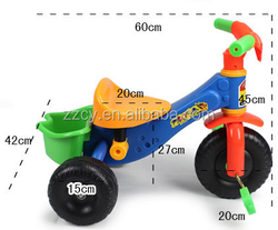 2016 plastic kids tricycle/ baby tricycle ABS bike toy wholesale from factory
