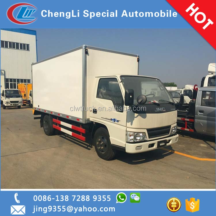 Tunisia hot sale JMC 4*2 12-13 CBM refrigerated truck box