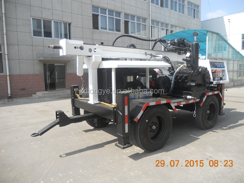 300m hydraulic trailer mounted water well drilling rig SLY510