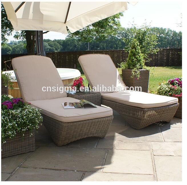 Hot sale fiberglass wicker outdoor setting lounge chairs furniture sale