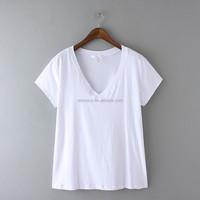 Wholesale clothes white custom cheap women blank t shirt