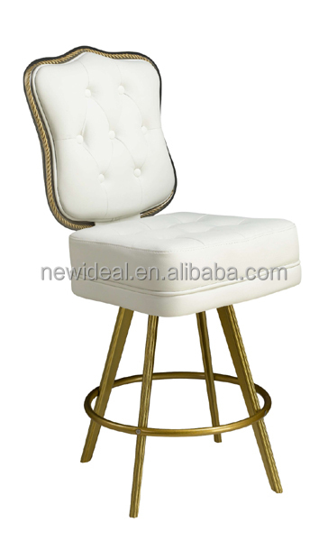 Swivel casino chair with metal foot rest (NH1280)