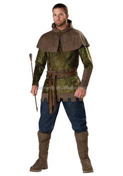 Robin Hood Plus Size Men Medieval Archer Fairytale Book Week Adult Costume QAMC-2508