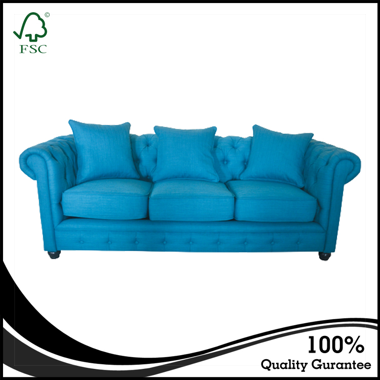 High quality pictures of wooden sofa designs furniture living room sofa handcrafted tufted wooden fabric sofa