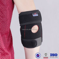 Black adjustable elbow support With Spring medical elbow support pad neoprene waterproof elbow support nylon arm sleeve