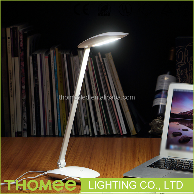 Wholesale aluminum desk lamp 7w foldable office working studying touch sensor usb led table light