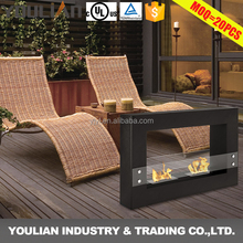 Hot sale outdoor and indoor free standing fire place fireplace FP-004S