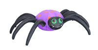 240cm/8ft Halloween inflatables, huge spider, LED light yard decoration