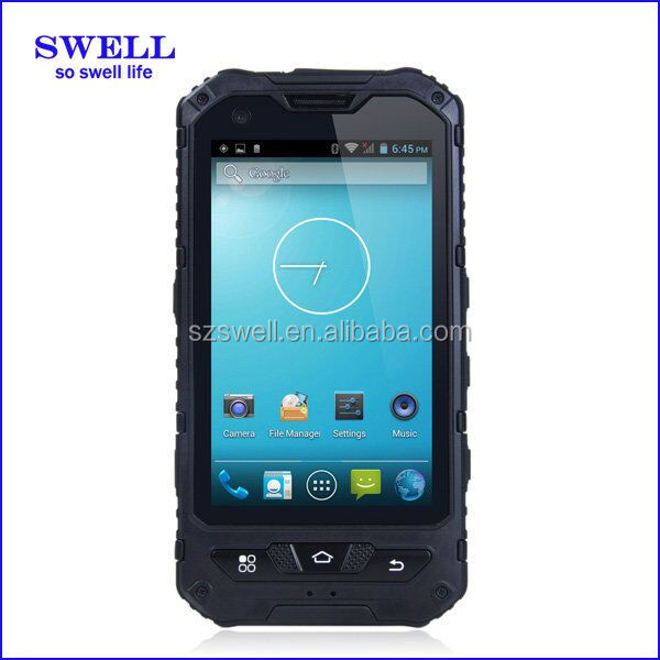 4inch rugged model land rover a8 ip68 very small cell phones with NFC rugged android smartphone