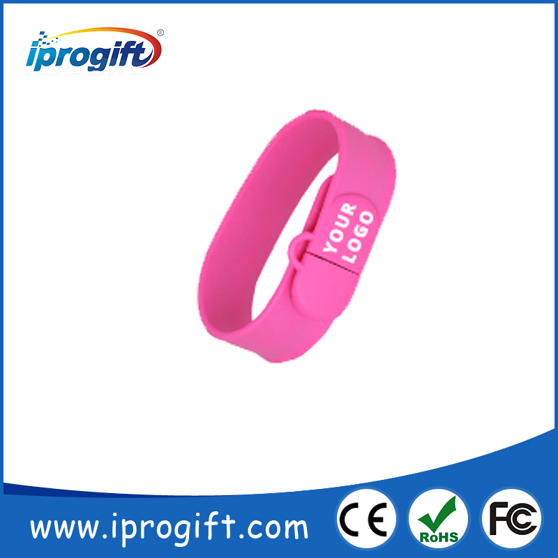 Ideal Promtional Gift Slap On USB Wristband Sticks