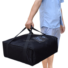 black polyester insulated thermal pizza food delivery pizza bag
