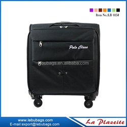 "17"" wheeled trolley briefcase laptop bag, 4 wheel polyester laptop trolley bag"
