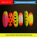 Free Samples !!! Colorful Metal Spoons Artificial Type Lures Bass Fishing Lure