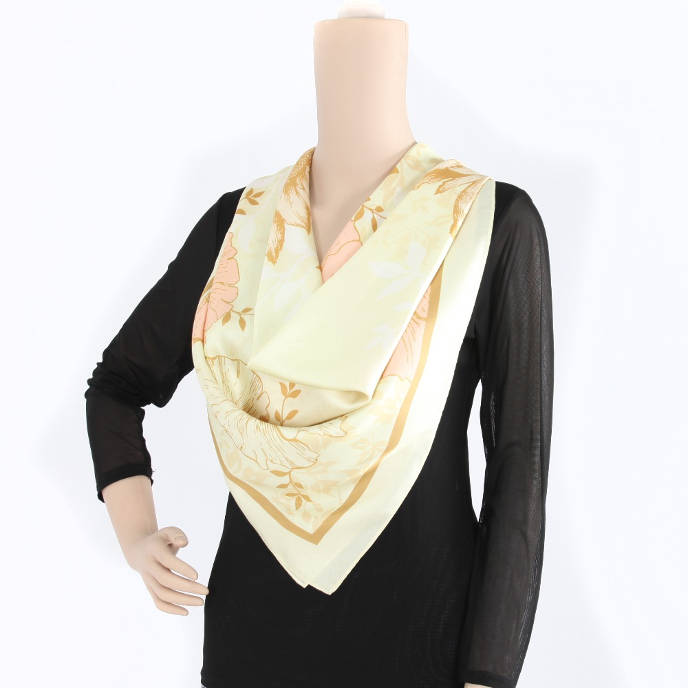 brand cheap price twill silk wholesale scarf twill silk