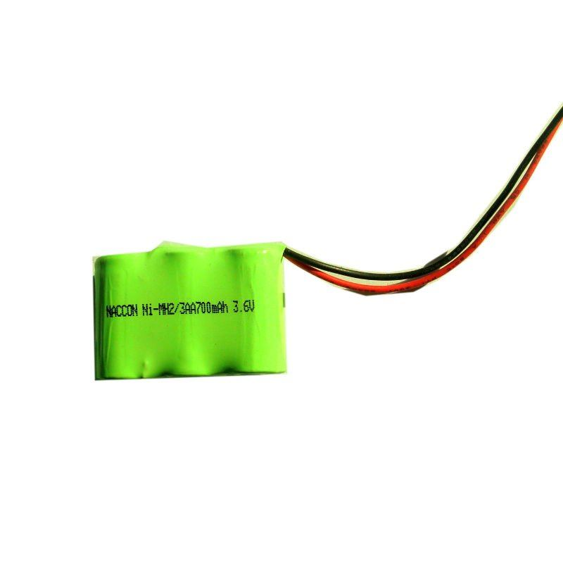 2/3AA Ni-MH rechargeable Battery Packs 3.6V With 700mAh