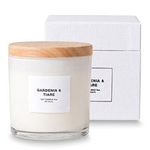 Branded Highly Scented Candle in Frosted Glass Jar with Lid