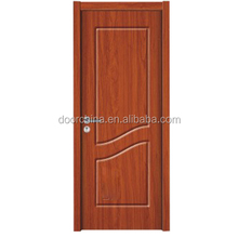 Fancy Design Single Leaf 2 Panels PVC Coated MDF Wood Door Alternative Door Frame