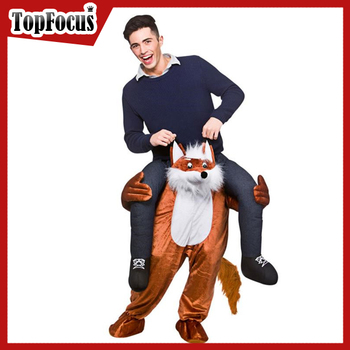 High Quality Fox Animal Adult Mascot Carry me Costume