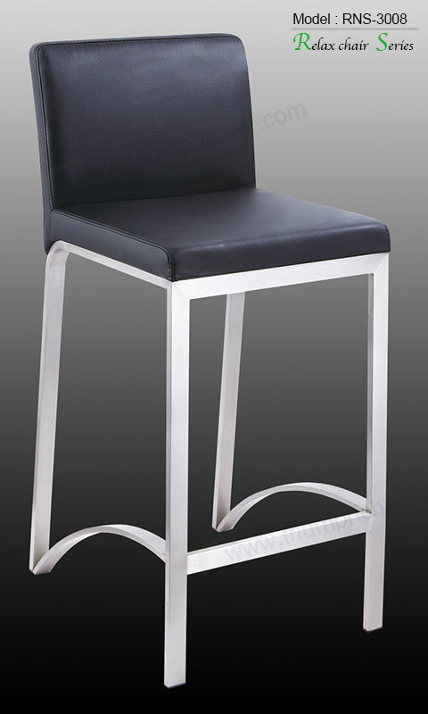Triumph Stainless Steel singapore Bar stool high chair / Modern stainless white leather bar chair batheroom stool