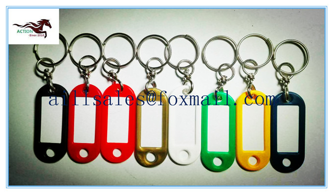 China factory the cheapest price plastic givolare key tag key label,key ring+swivel