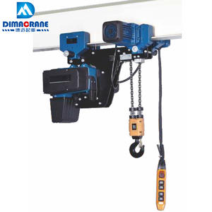 500 kg 1 ton 2 ton Demag style super low headroom type electric chain hoist with hook in workshop
