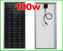 Photovolatic solar panels 100w 18V monocrystalline, composing of tempered glass, cells, EVA with TUV, CE, ISO, UL