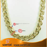 10MM wide metal chains for purses/straps/jewelry/handbag