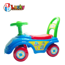 best price sliding baby carriage bright colorful ride on car classic with horn sound