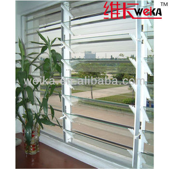 high quality PVC glass shutter window