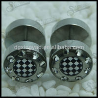316l Surgical Steel Gem Fake Plug Expory with the cheater logos