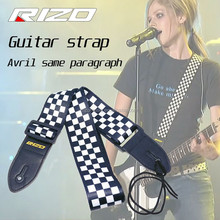 Heat transfer guitar strap for Polyester cotton Acoustic with Electric guitar strap