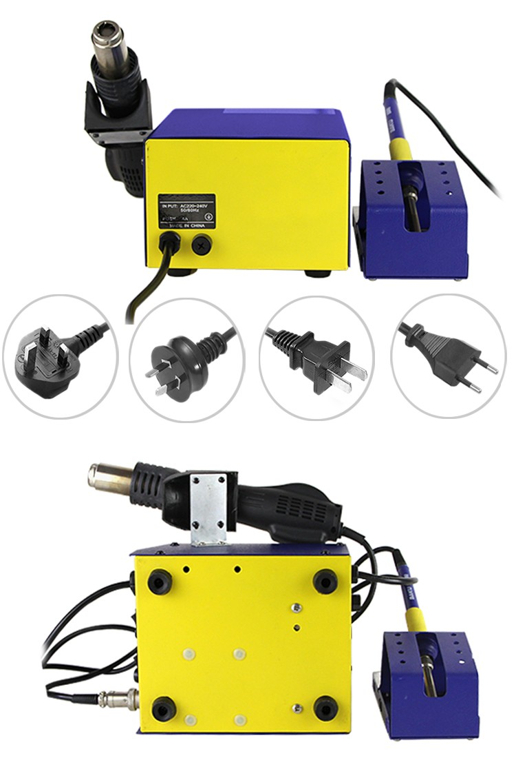 BAKU Hot Air BGA Blower Plastic BK-601D Solder Rework Station with mobile phone soldering iron kit for replacement of all parts