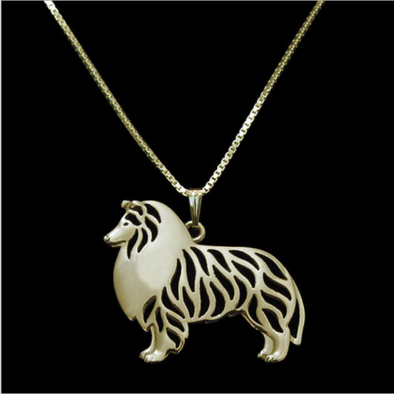 Wholesale New Simple Design Alloy Dog Shape Pendants Necklace Lovely Pets Animal Shape Necklace for women Jewelry
