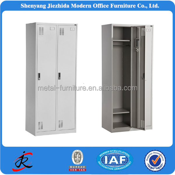 Modern military 2 door clothing steel locker/wardrobe