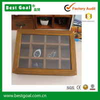 Twelve Wooden Store Content Box Wooden Jewelry Boxes Large Capacity Jewelry Box Cosmetics Receive a case