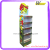 factory price single side multiple shop floor free floor standing corrugated cardboard display shelf for toy