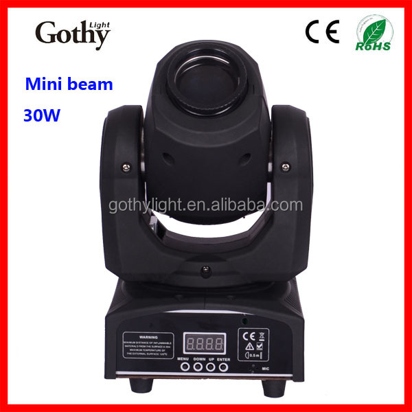 Gothylight 30w spot moving head led wedding stage lighting