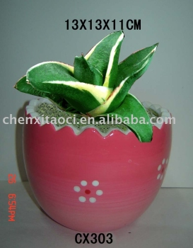 pottery flower pot for easter