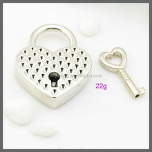 diamond decorated padlock for jewelry / jewelry case padlock / love heart shape lock