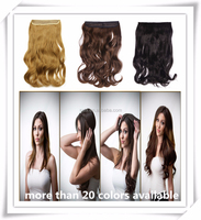 Wholesale Synthetic Crochet Flip In Hair Extension Multicolor Japanese Fiber Halo Hair Extensions