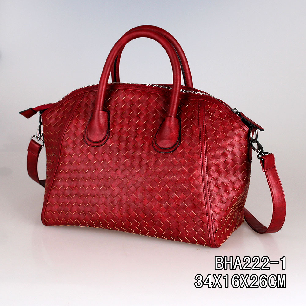 China factory outlet latest design woven style ladies messenger bags,women handbag with cute lock