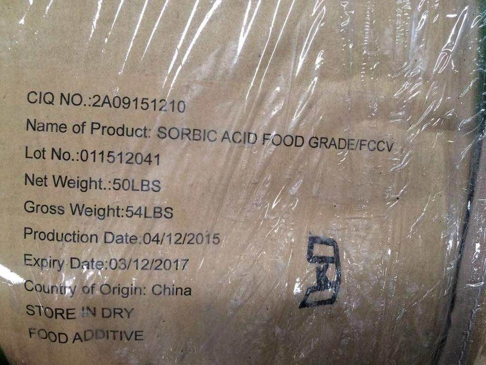 Selling factory price Sorbic acid food grade as preservation